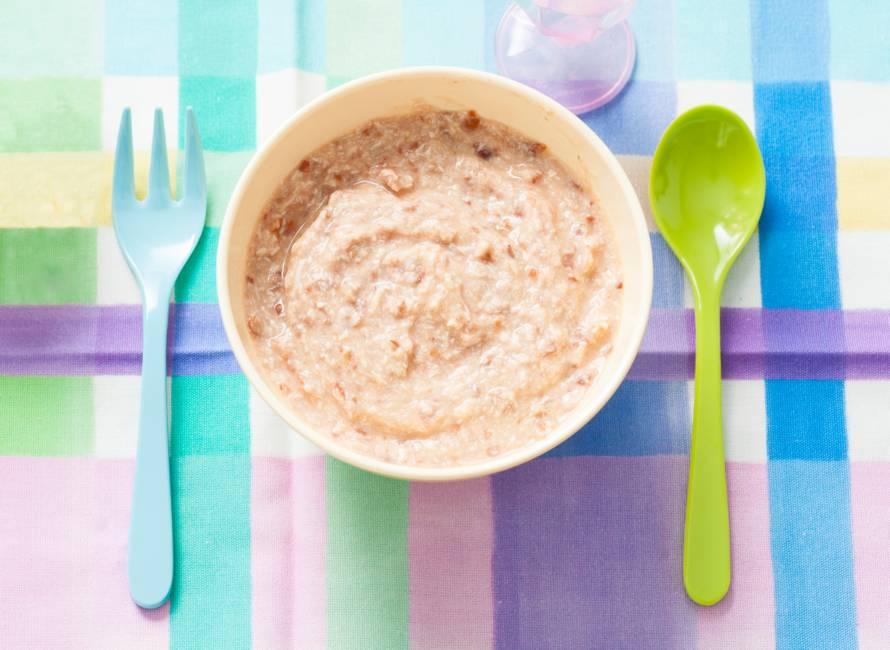 Opperdepop: bruine bonen met tomaat en kip 7-9 mnd