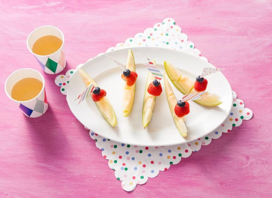 Opperdepop: meloenbootjes met fruit 24+ mnd