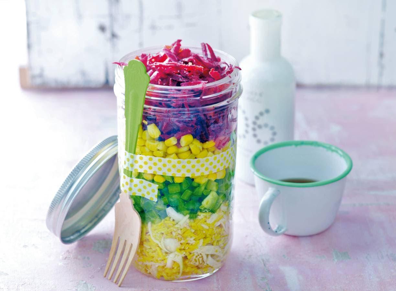Oosterse salade met sesamdressing