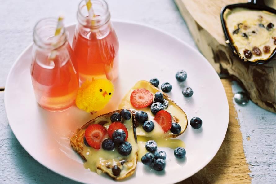 Rozijnenpannenkoekjes met lemon curd