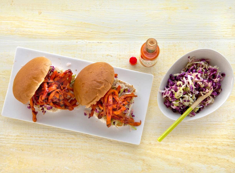 Broodje gerookte wortel (sandwich smoked carrots)