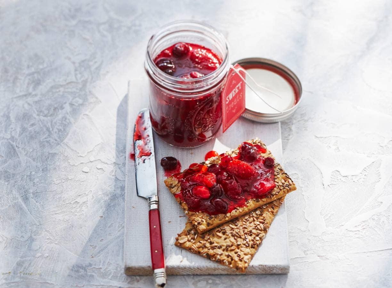Aardbeien-cranberryjam
