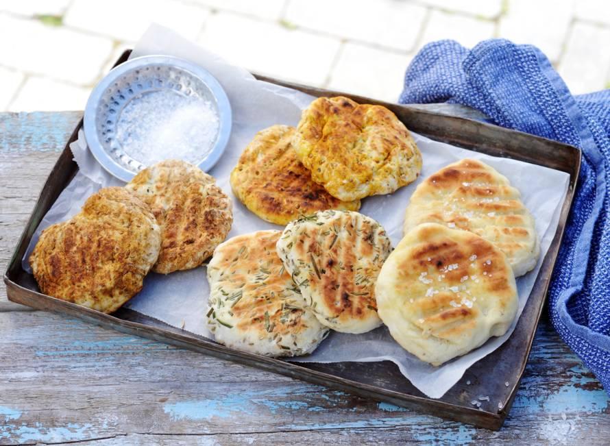 Platbrood van de barbecue