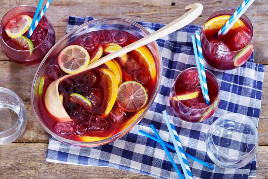 Alcoholvrije sangria met fruit