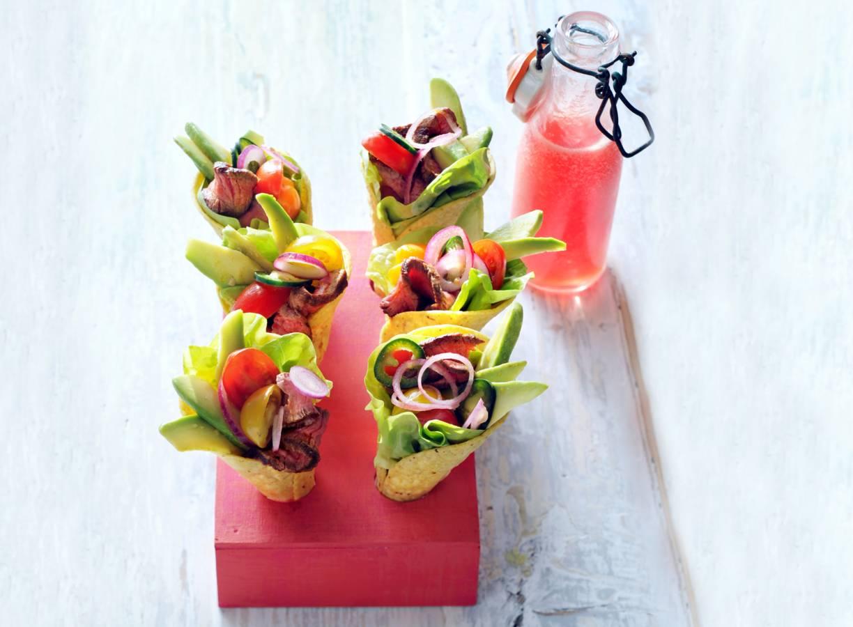 Tacocones met biefstuk en avocado