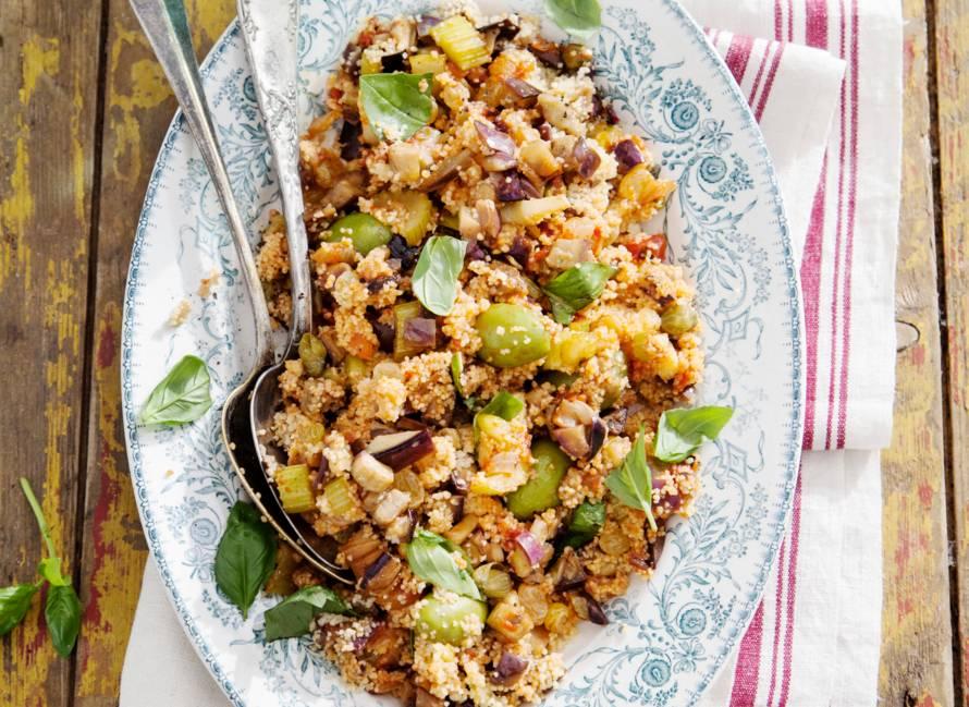 Couscouscaponata met aubergine