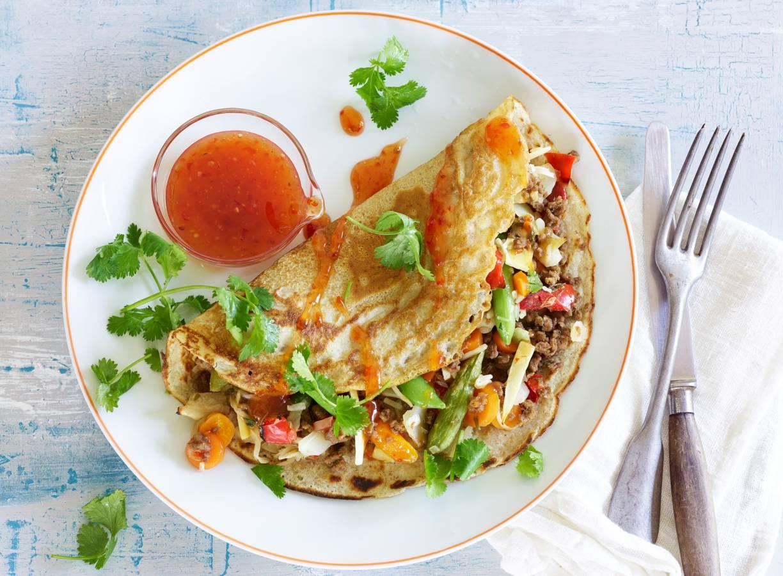 Meergranenpannenkoeken met groenten
