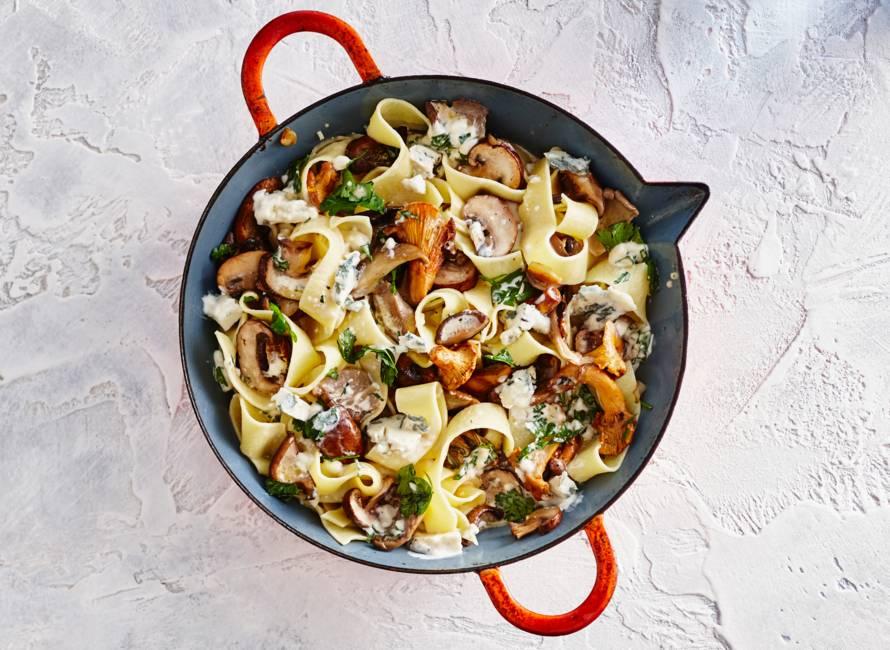 Pappardelle met gorgonzola