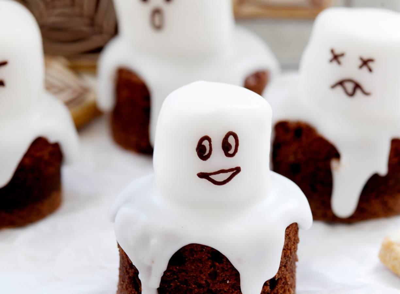 Chocospookjes met marshmallows