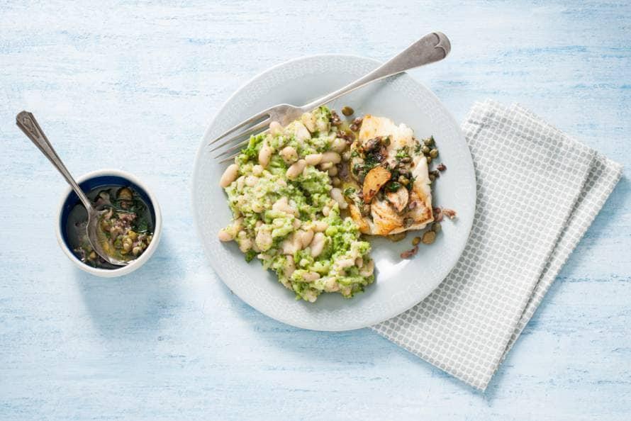 Broccoli-bonenstamp met kappertjes