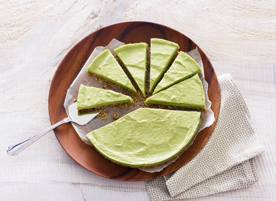 No bake avocado-cheesecake