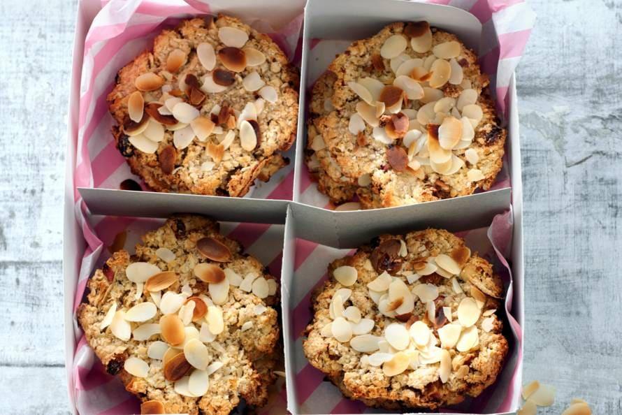 Havermout-rozijnenkoekjes zonder geraffineerde suiker