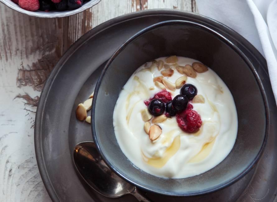 Roomyoghurt met bosvruchten