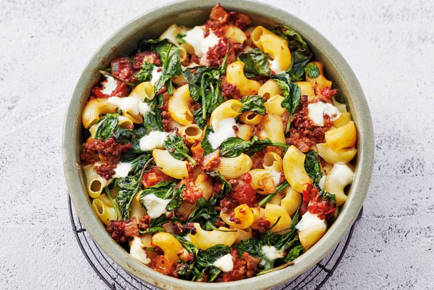recept gehakt spinazie