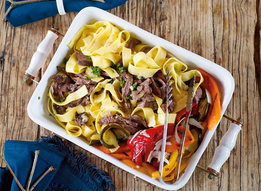 Pappardelle met stracotto