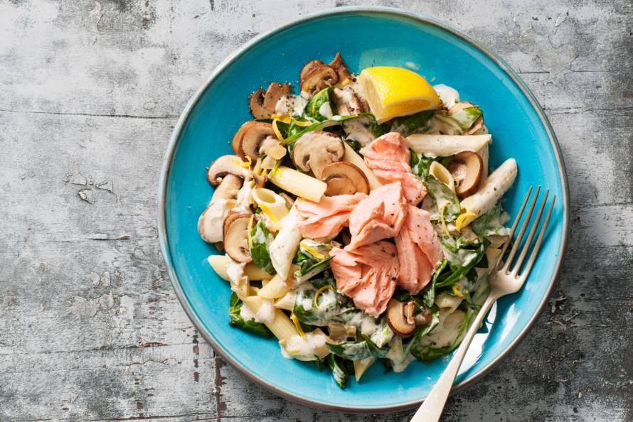 recept verse spinazie met zalm