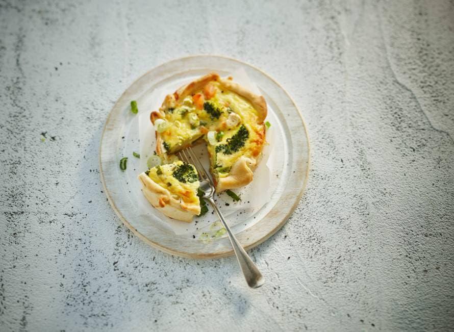 Broccoli-zalmquiches