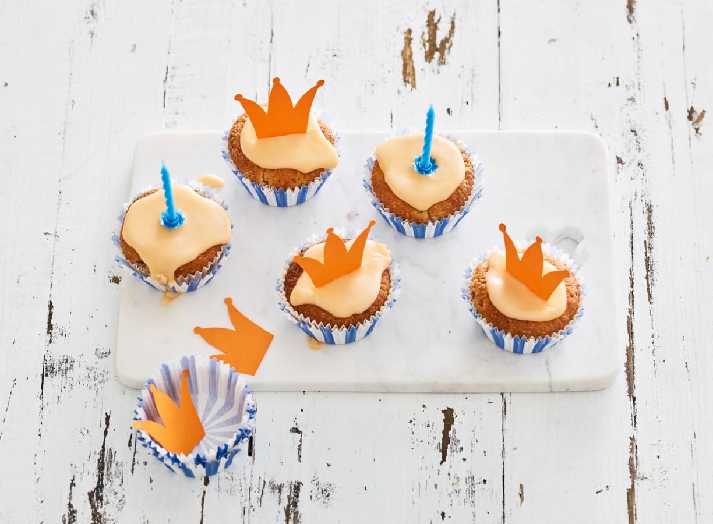 Oranje-frambozencupcakes