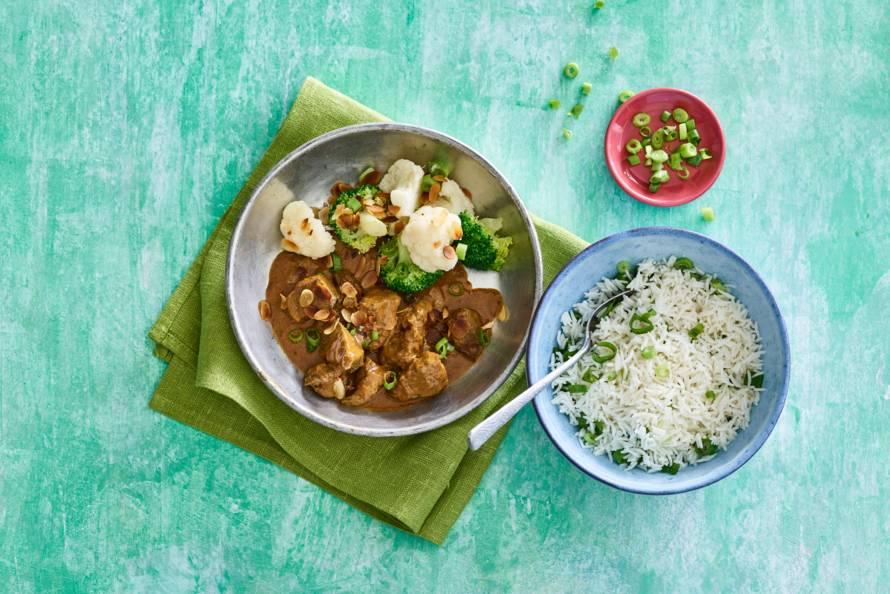 Indiase curry met biefstukpuntjes