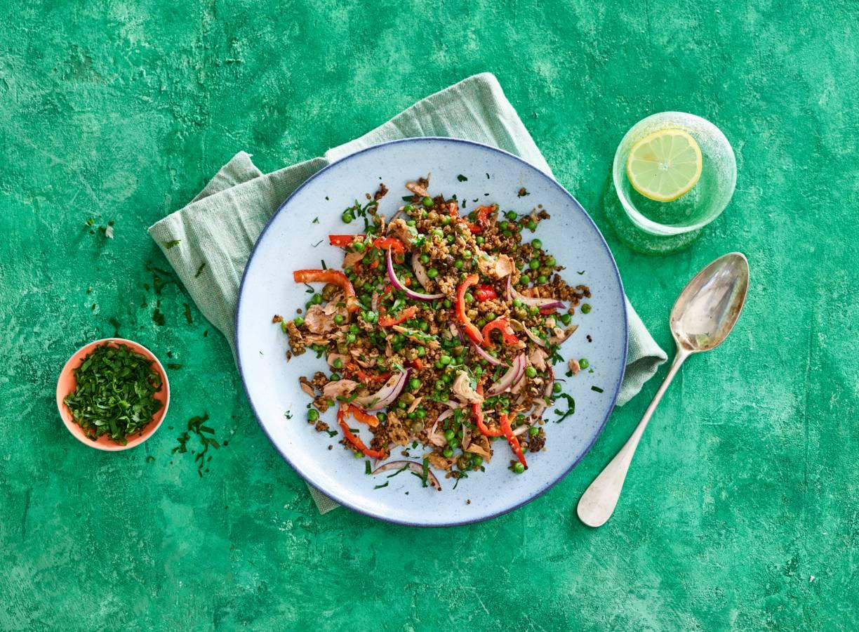 Quinoa met groenten en tonijn