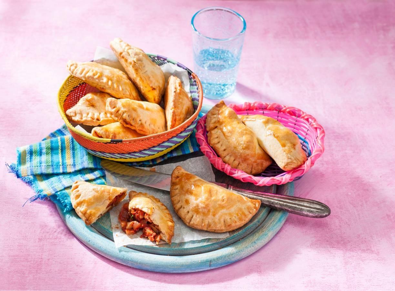 Empanadas met kip en abrikozen