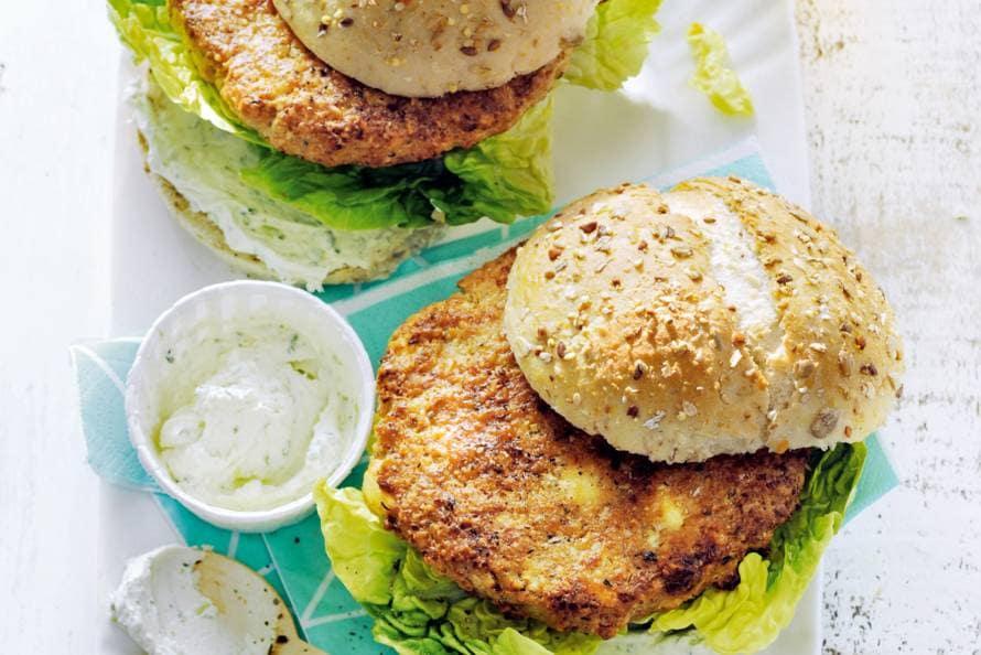 Bloemkool-macadamiaburgers