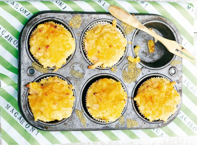 Mac 'n' cheesemuffins met bloemkool & kip