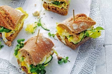 Beroemd Stokbroodje gezond met zalm en waterkers - Recept - Allerhande &QI64