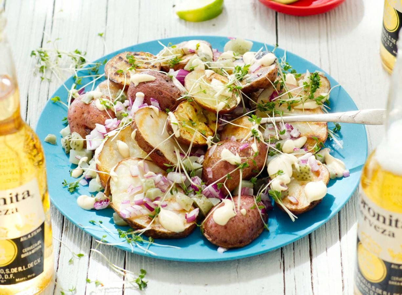 Aardappelsalade van de BBQ