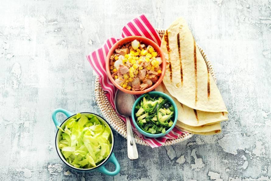 Tortilla's met tonijnsalade