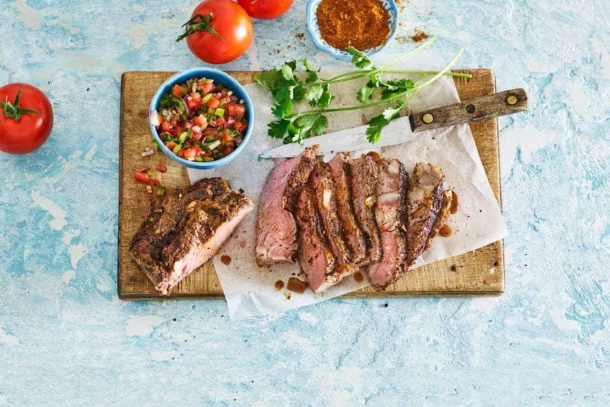 Tomahawk-steak met Braziliaanse salsa