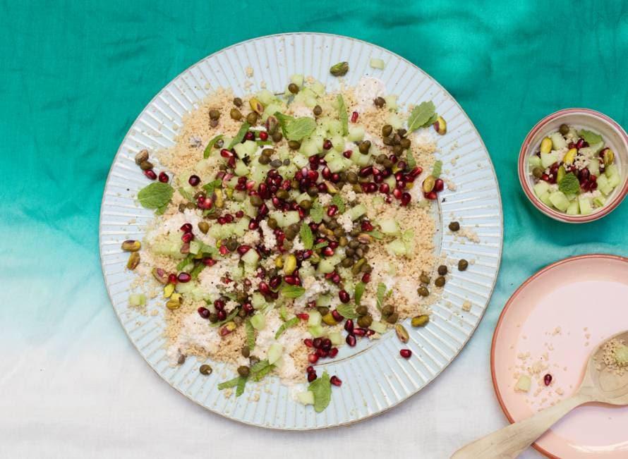 Couscoussalade met kappertjes en pistachenootjes