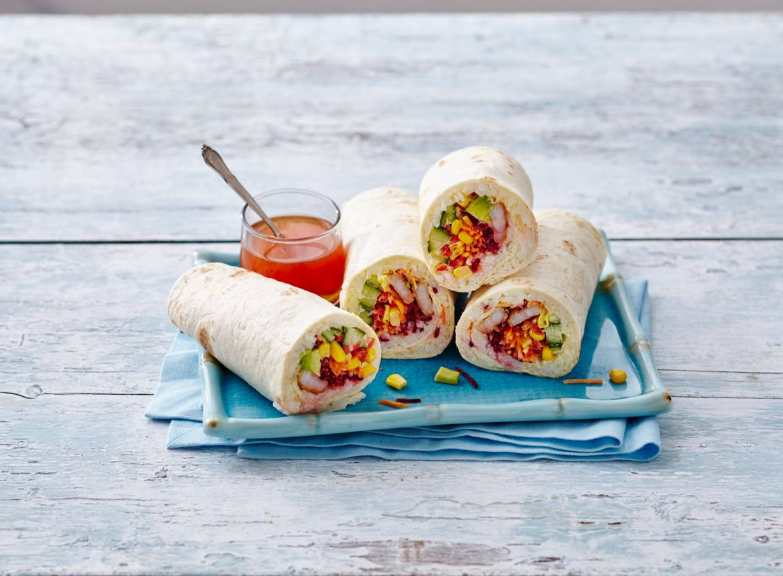 Sushi burrito met garnalen