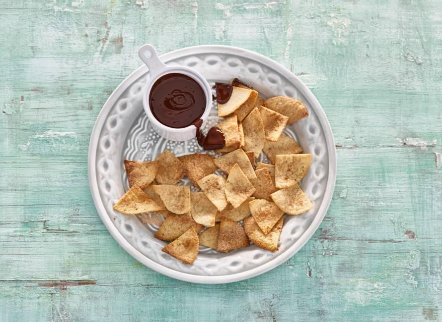 Zoete-tortillachips