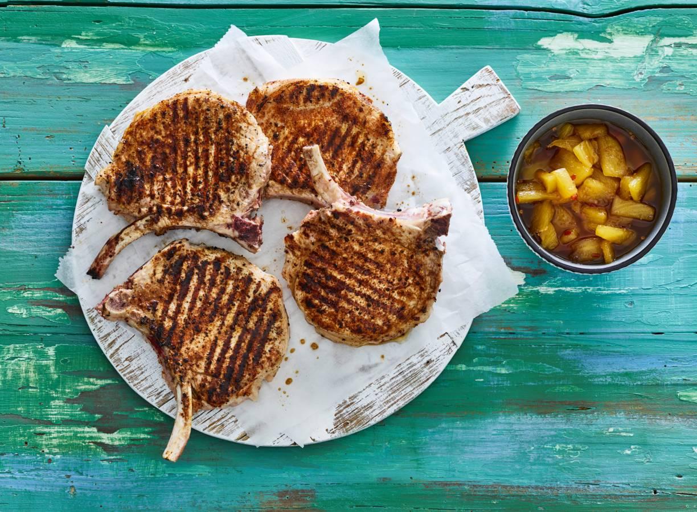 Iberico frenched racks met ananaschutney