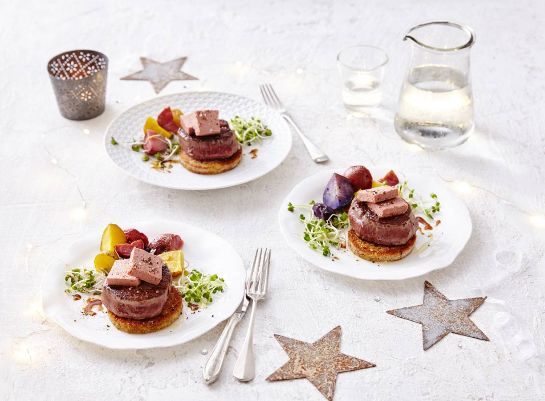 Chateaubriand met roompaté en truffelcroutons