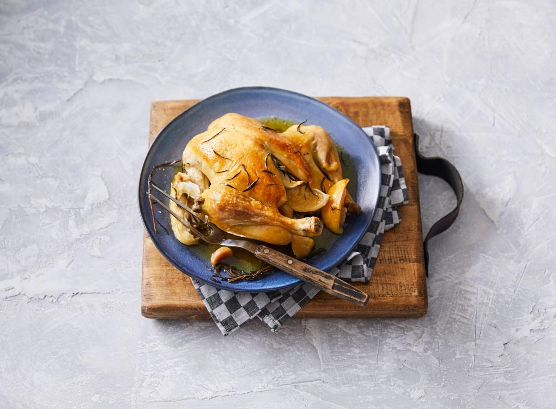 Hele kip met citroen & rozemarijn