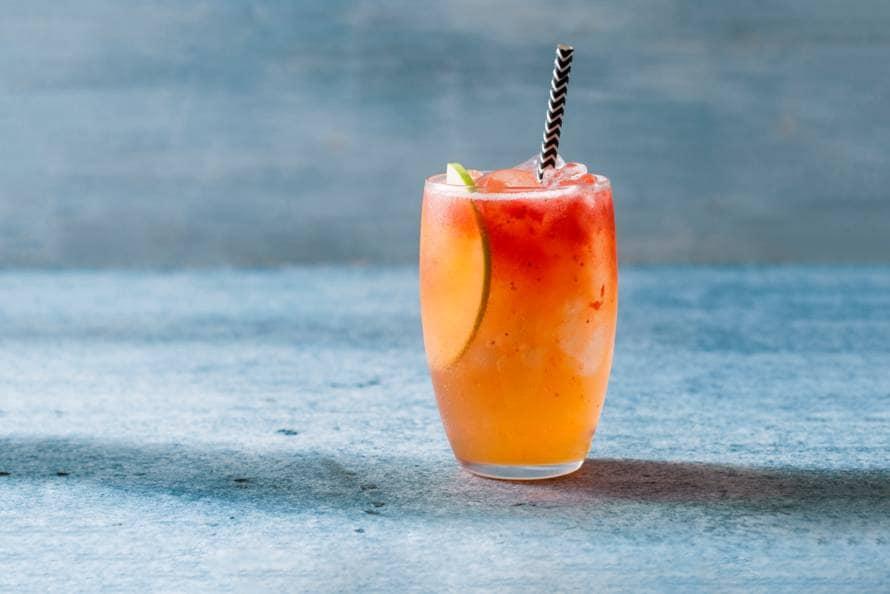Ginger Strawberry Delight-mocktail