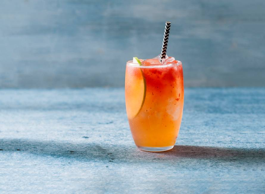 Ginger Strawberry Delight-mocktail