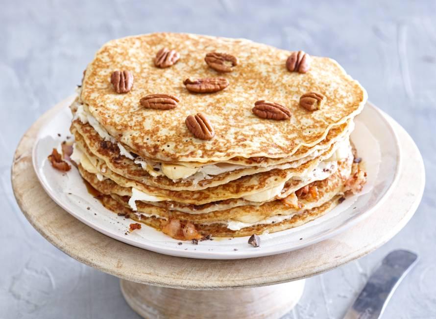 Pannenkoekentaart met pancetta