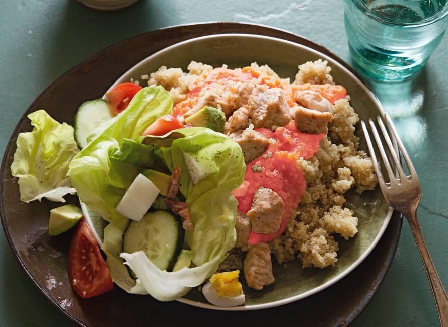 Quinoa met zoete tomatensaus