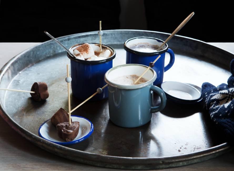 Zelfgemaakte chocolademelk