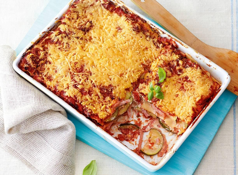 Verse lasagne met courgette en romige mozzarella