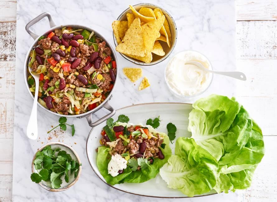 Slawraps met Mexicaanse groente