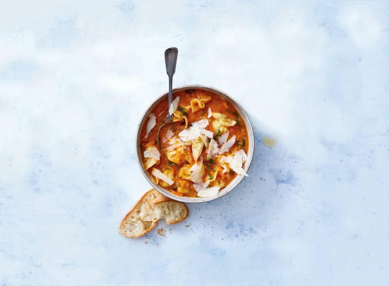 Italiaanse maaltijdsoep met pasta