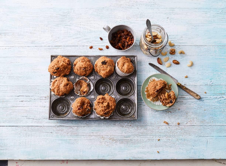 Glutenvrije meergranen muesli-muffins