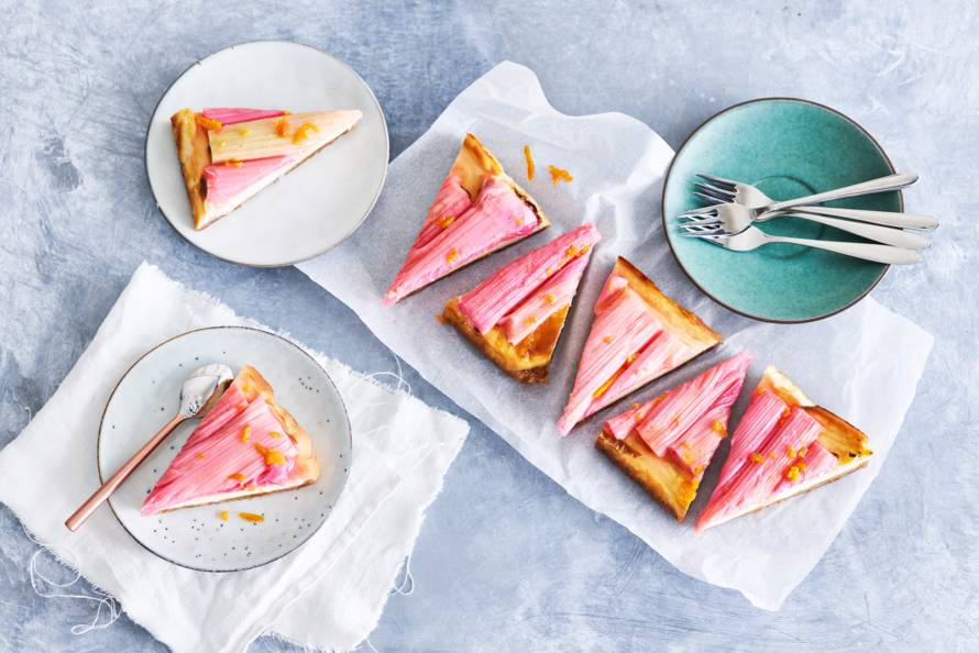 Rabarbercheesecake