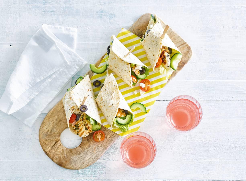 Griekse tortilla's met kip