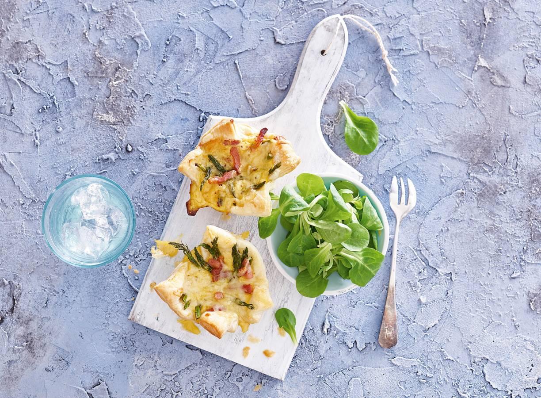 Miniquiches met spek & groene-aspergetips