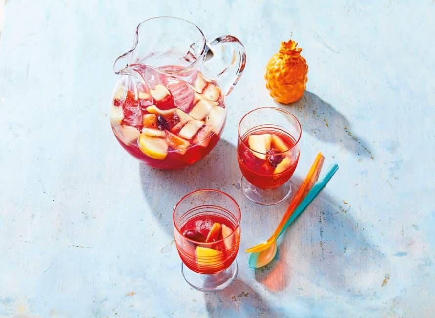 Sangria met veel fruit